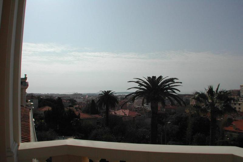 Cannes and sea view from the terrace of Cannes villa
