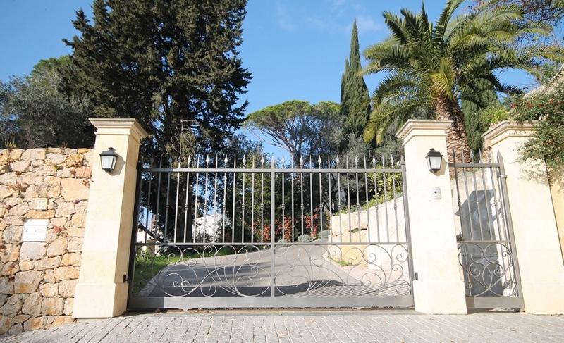Entrance gate of a Cannes villa