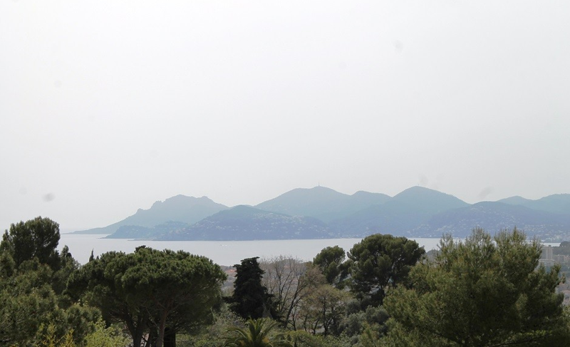 Views of sea, city and mountains from a Cannes party villa