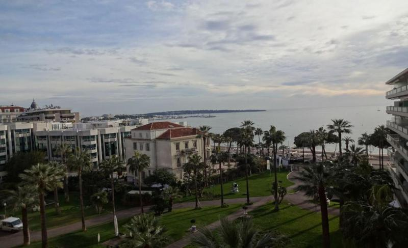 View of Mediterranean and the Croisette from a Cannes rental apartment