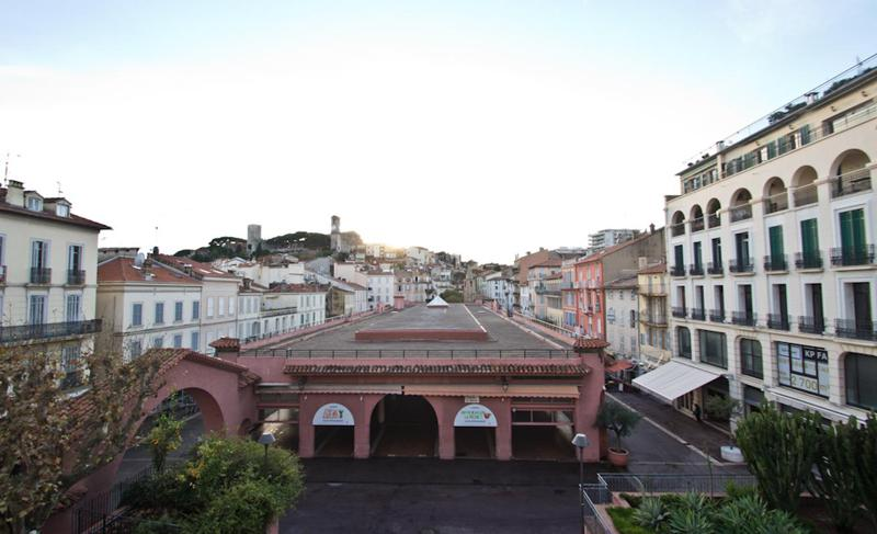 Views of Marche Forville, streets and building from a Cannes group accommodation