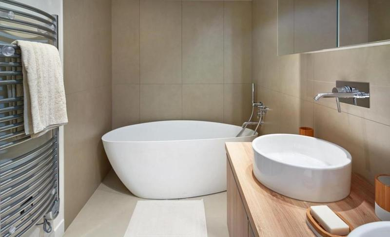 Stylish ceramic bathtub in Cannes