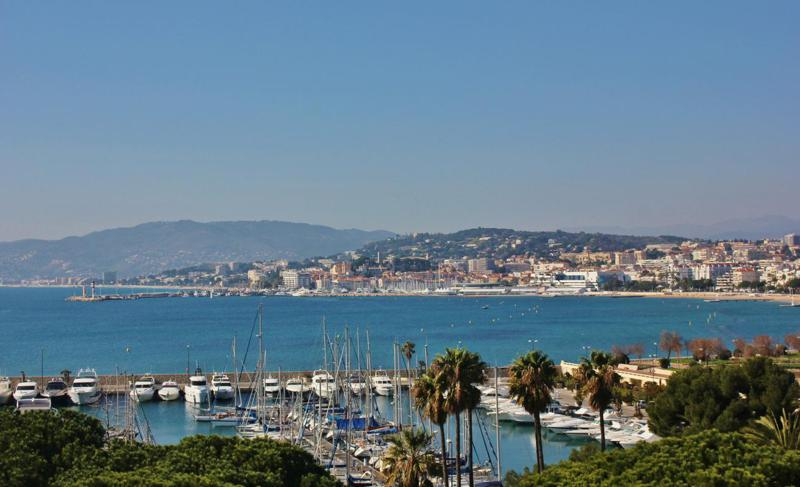 Port and sea views from a Cannes rental penthouse