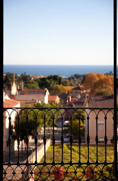 Sea and town views from a Barcelona group villa