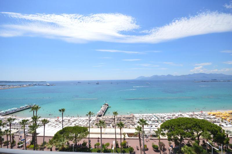 Cannes bay and sea views from a group rental apartment